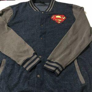 2XL Superman Sweater Jacket Sweatshirt DC Comics